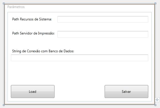 Tela WPF parãmetros XML