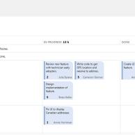 Board de tarefas (similar aos post-its do processo manual do scrum)